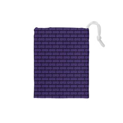 Color Of The Year 2018   Ultraviolet   Art Deco Black Edition Drawstring Pouches (small)