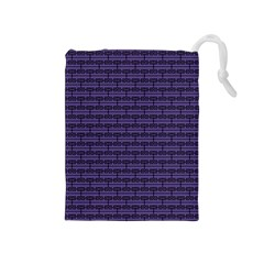 Color Of The Year 2018   Ultraviolet   Art Deco Black Edition Drawstring Pouches (medium)