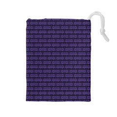 Color Of The Year 2018   Ultraviolet   Art Deco Black Edition Drawstring Pouches (large)