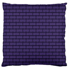 Color Of The Year 2018   Ultraviolet   Art Deco Black Edition Large Flano Cushion Case (one Side)