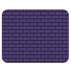 Color Of The Year 2018   Ultraviolet   Art Deco Black Edition Double Sided Flano Blanket (medium)
