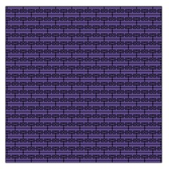 Color Of The Year 2018   Ultraviolet   Art Deco Black Edition Large Satin Scarf (square)