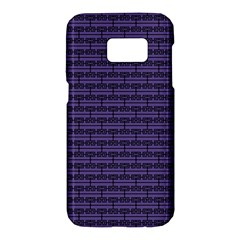 Color Of The Year 2018   Ultraviolet   Art Deco Black Edition Samsung Galaxy S7 Hardshell Case