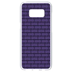 Color Of The Year 2018   Ultraviolet   Art Deco Black Edition Samsung Galaxy S8 White Seamless Case