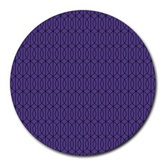 Color Of The Year 2018   Ultraviolet   Art Deco Black Edition 10 Round Mousepads
