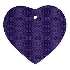 Color Of The Year 2018   Ultraviolet   Art Deco Black Edition 10 Ornament (heart)