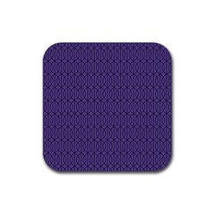 Color Of The Year 2018   Ultraviolet   Art Deco Black Edition 10 Rubber Square Coaster (4 Pack)