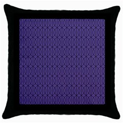 Color Of The Year 2018   Ultraviolet   Art Deco Black Edition 10 Throw Pillow Case (black)
