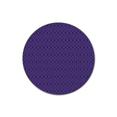 Color Of The Year 2018   Ultraviolet   Art Deco Black Edition 10 Rubber Round Coaster (4 Pack)