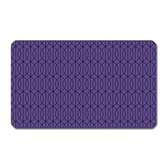 Color Of The Year 2018   Ultraviolet   Art Deco Black Edition 10 Magnet (rectangular)
