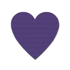 Color Of The Year 2018   Ultraviolet   Art Deco Black Edition 10 Heart Magnet