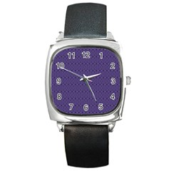 Color Of The Year 2018   Ultraviolet   Art Deco Black Edition 10 Square Metal Watch