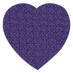 Color Of The Year 2018   Ultraviolet   Art Deco Black Edition 10 Jigsaw Puzzle (heart)