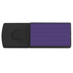 Color Of The Year 2018   Ultraviolet   Art Deco Black Edition 10 Rectangular Usb Flash Drive