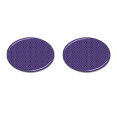 Color Of The Year 2018   Ultraviolet   Art Deco Black Edition 10 Cufflinks (oval)