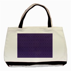 Color Of The Year 2018   Ultraviolet   Art Deco Black Edition 10 Basic Tote Bag