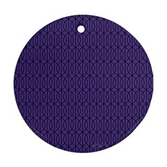 Color Of The Year 2018   Ultraviolet   Art Deco Black Edition 10 Round Ornament (two Sides)