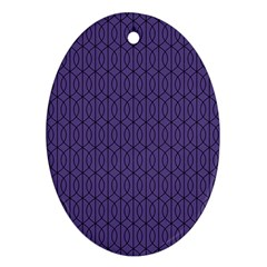 Color Of The Year 2018   Ultraviolet   Art Deco Black Edition 10 Oval Ornament (two Sides)