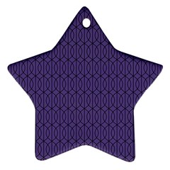 Color Of The Year 2018   Ultraviolet   Art Deco Black Edition 10 Star Ornament (two Sides)