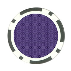 Color Of The Year 2018   Ultraviolet   Art Deco Black Edition 10 Poker Chip Card Guard