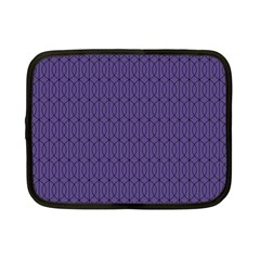 Color Of The Year 2018   Ultraviolet   Art Deco Black Edition 10 Netbook Case (small)