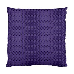 Color Of The Year 2018   Ultraviolet   Art Deco Black Edition 10 Standard Cushion Case (one Side)