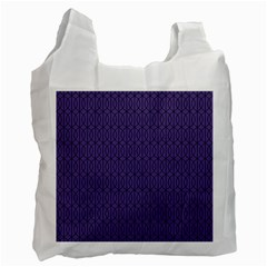 Color Of The Year 2018   Ultraviolet   Art Deco Black Edition 10 Recycle Bag (one Side)