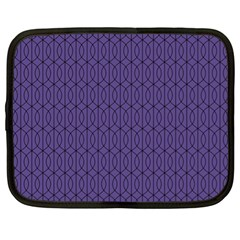 Color Of The Year 2018   Ultraviolet   Art Deco Black Edition 10 Netbook Case (xl)