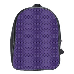 Color Of The Year 2018   Ultraviolet   Art Deco Black Edition 10 School Bag (large)