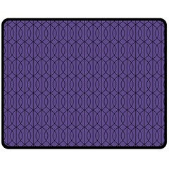 Color Of The Year 2018   Ultraviolet   Art Deco Black Edition 10 Fleece Blanket (medium)