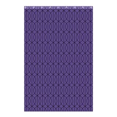 Color Of The Year 2018   Ultraviolet   Art Deco Black Edition 10 Shower Curtain 48  X 72  (small)