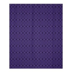 Color Of The Year 2018   Ultraviolet   Art Deco Black Edition 10 Shower Curtain 60  X 72  (medium)