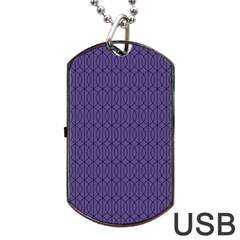 Color Of The Year 2018   Ultraviolet   Art Deco Black Edition 10 Dog Tag Usb Flash (one Side)
