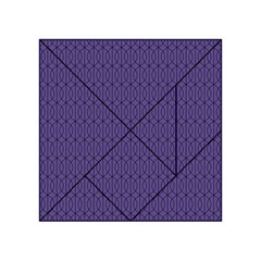 Color Of The Year 2018   Ultraviolet   Art Deco Black Edition 10 Acrylic Tangram Puzzle (4  X 4 )