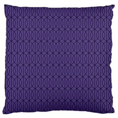 Color Of The Year 2018   Ultraviolet   Art Deco Black Edition 10 Large Cushion Case (two Sides)