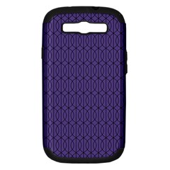 Color Of The Year 2018   Ultraviolet   Art Deco Black Edition 10 Samsung Galaxy S Iii Hardshell Case (pc+silicone)