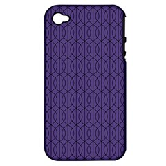 Color Of The Year 2018   Ultraviolet   Art Deco Black Edition 10 Apple Iphone 4/4s Hardshell Case (pc+silicone)