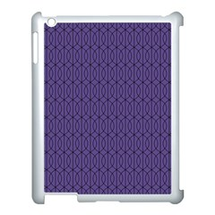 Color Of The Year 2018   Ultraviolet   Art Deco Black Edition 10 Apple Ipad 3/4 Case (white)