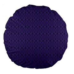 Color Of The Year 2018   Ultraviolet   Art Deco Black Edition 10 Large 18  Premium Round Cushions