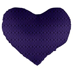 Color Of The Year 2018   Ultraviolet   Art Deco Black Edition 10 Large 19  Premium Heart Shape Cushions