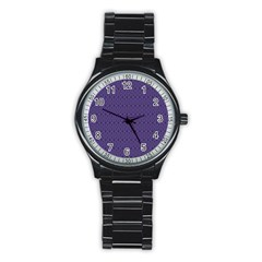 Color Of The Year 2018   Ultraviolet   Art Deco Black Edition 10 Stainless Steel Round Watch