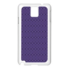 Color Of The Year 2018   Ultraviolet   Art Deco Black Edition 10 Samsung Galaxy Note 3 N9005 Case (white)
