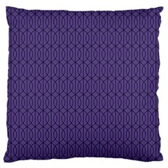 Color Of The Year 2018   Ultraviolet   Art Deco Black Edition 10 Large Flano Cushion Case (two Sides)