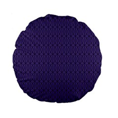 Color Of The Year 2018   Ultraviolet   Art Deco Black Edition 10 Standard 15  Premium Flano Round Cushions