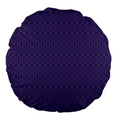 Color Of The Year 2018   Ultraviolet   Art Deco Black Edition 10 Large 18  Premium Flano Round Cushions