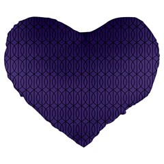 Color Of The Year 2018   Ultraviolet   Art Deco Black Edition 10 Large 19  Premium Flano Heart Shape Cushions