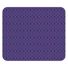 Color Of The Year 2018   Ultraviolet   Art Deco Black Edition 10 Double Sided Flano Blanket (small)