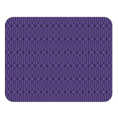 Color Of The Year 2018   Ultraviolet   Art Deco Black Edition 10 Double Sided Flano Blanket (large)