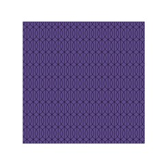 Color Of The Year 2018   Ultraviolet   Art Deco Black Edition 10 Small Satin Scarf (square)