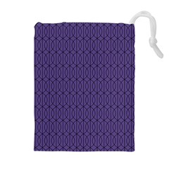 Color Of The Year 2018   Ultraviolet   Art Deco Black Edition 10 Drawstring Pouches (extra Large)